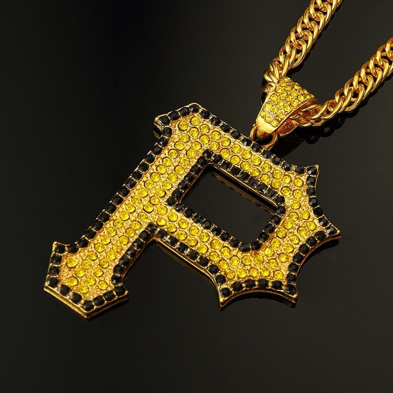 1 unids P wiz khalifa hiphop Roca Golpeador carta encantos del collar 90 cm cadena de