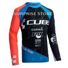 CUBE Motorcycle T-shirt Motocross MX Shirts Mountain Bike BMX DH MTB Jersey Breathable Downhill Quick Dry Clothes cycling jersey