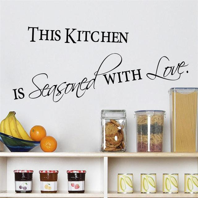 Vendita calda cucina con amore adesivi murali home decor per cucina ...