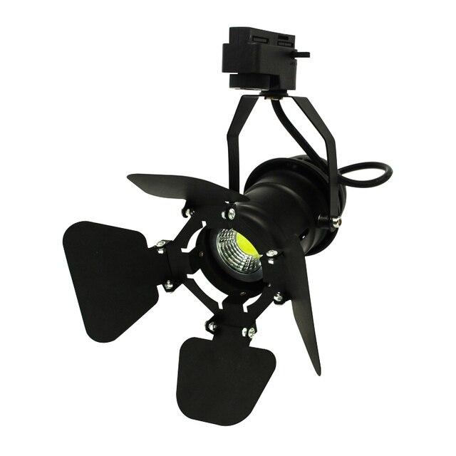Modern 4pcs 5W/7W COB LED Track Light Rail Spotlight 220V 110V cold/warm white spot fixture lamp for shop commercial lighting