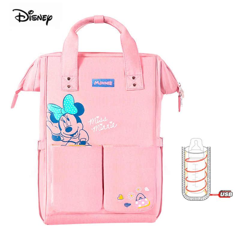 Mochila multifunción para pañales de gran capacidad para bebés y bebés de Minnie Mickey, mochila de maternidad, oso Winnie the Pooh