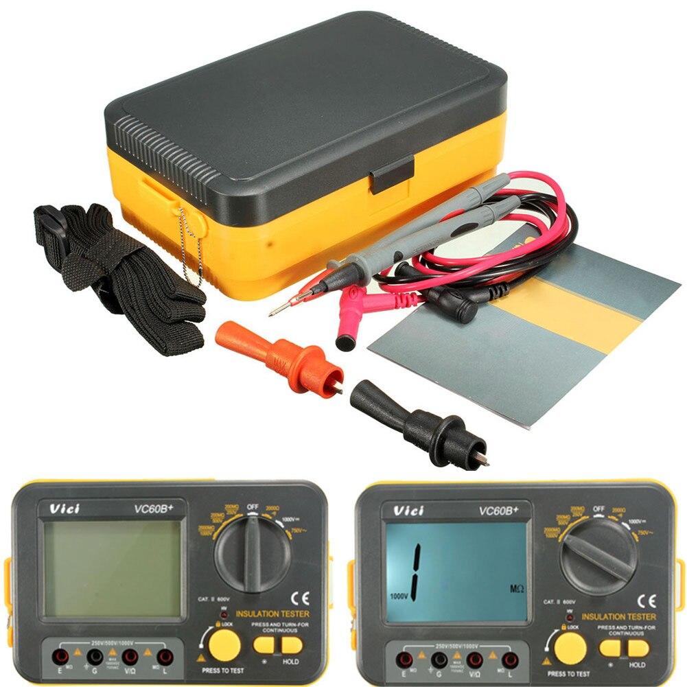 Testeur de résistance d'isolation numérique Megger MegOhm mètre 250 V 500 V 1000 V JDH99