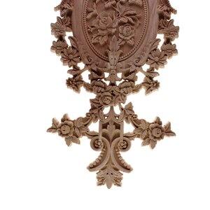 Image 4 - VZLX الخشب يزين التماثيل ملصق أثاث منحوتة نافذة ديكور المنمنمات الحرف الخشبية إكسسوارات ديكور منزلي لتقوم بها بنفسك