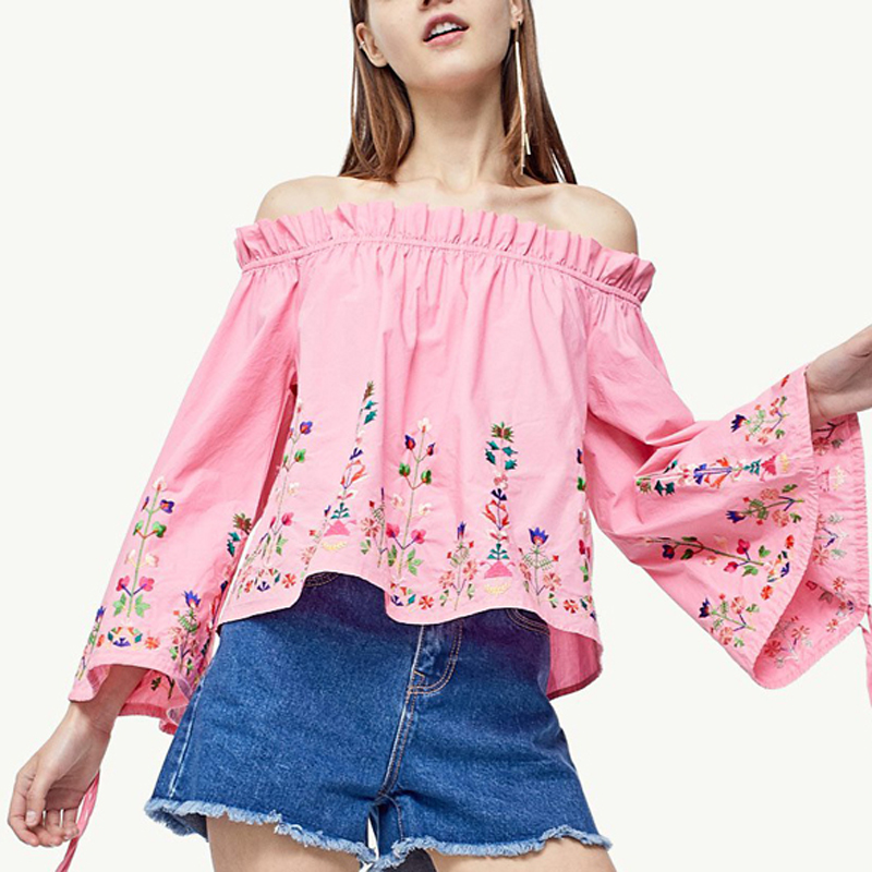 Buy yuqung ladies Top Women's Ruffle shirt female short blouses