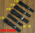 Waterproof Silicone Rubber Watch Strap Buckle 12mm/14mm/16mm/18mm/20mm/22mm Watchband For casio For DW Black Sports Straps