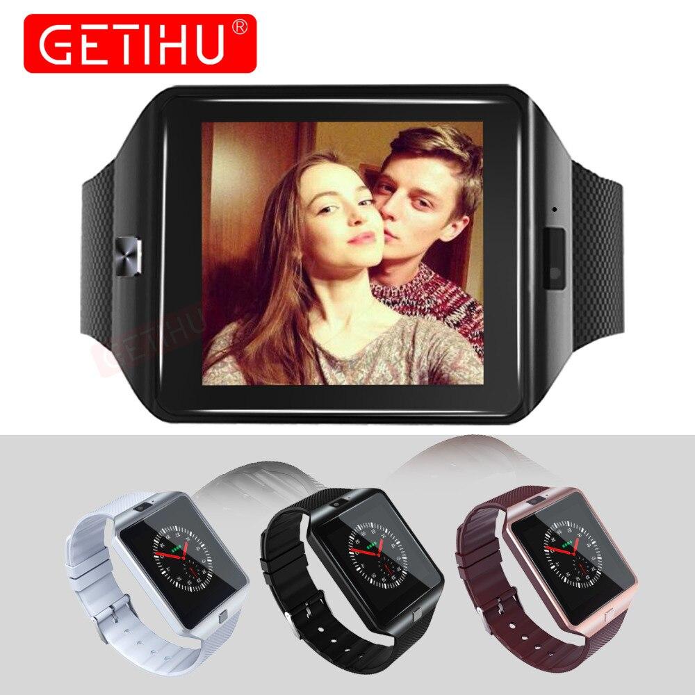 GETIHU Montre Smart Watch DZ09 Numérique Poignet avec Hommes Électronique Bluetooth SIM Carte Pour iPhone Samsung Android Téléphone Sport Smartwatch