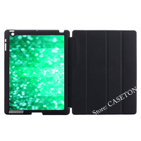 Green Glitter Geometric Cover Case For Apple iPad Mini 1 2 3 4 Air Pro 9.7 10.5 2016 New 2017 a1822
