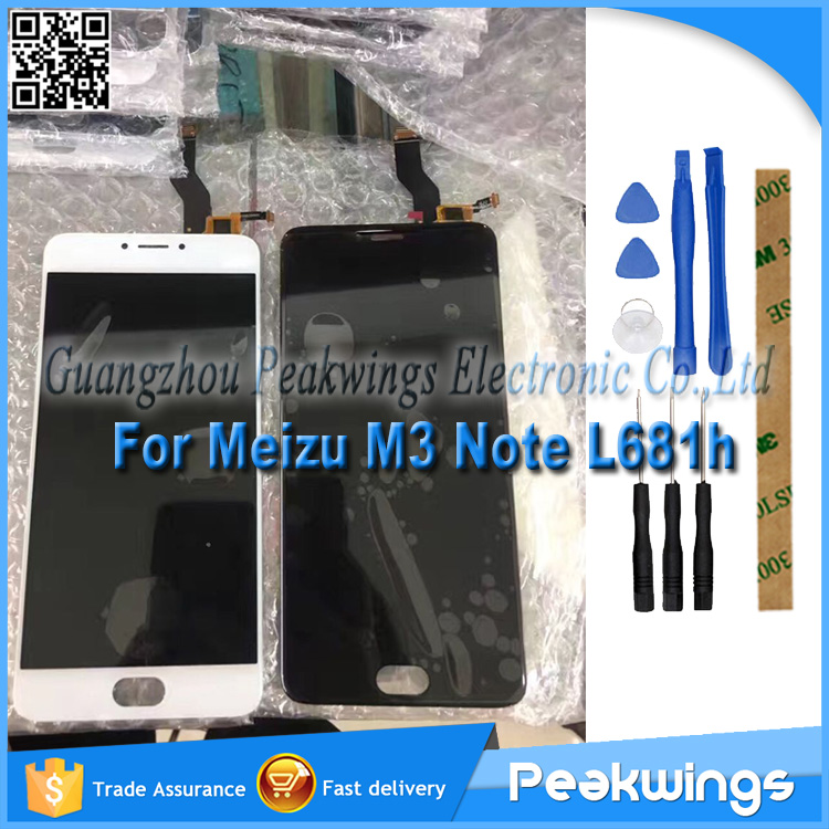 "Test one by one 5.5"" inch For Meizu M3 Note L681H LCD Display+Digitizer Panel Screen Assembly+3M Sticker+Tools"