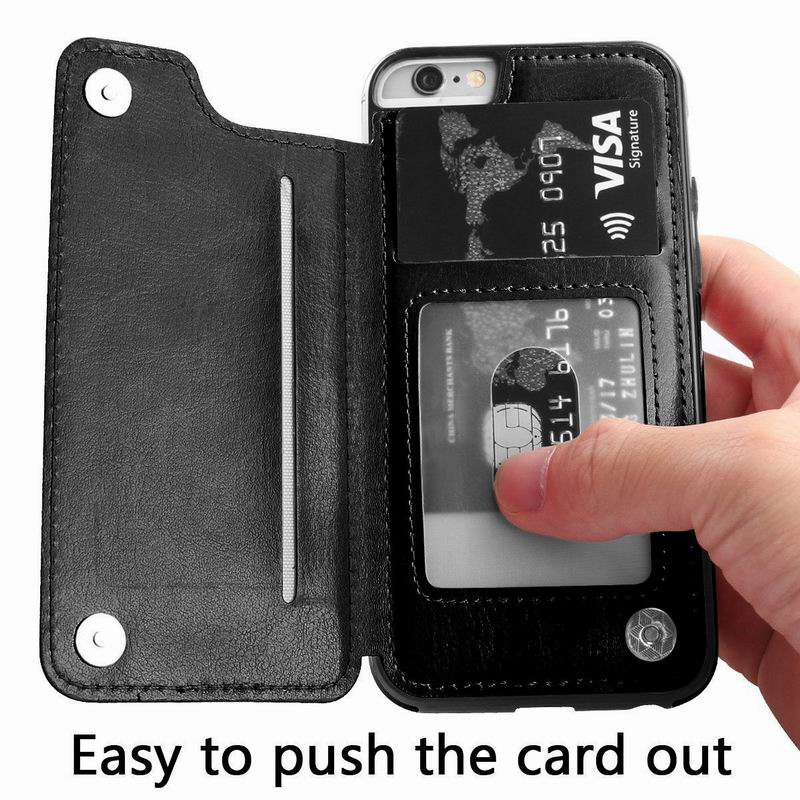 Retro PU Leather Flip Wallet Phone Case For iPhone X 8 Plus Photo Card Holder Back Cover Case For iPhone 6 6s Plus 7 Plus Shell