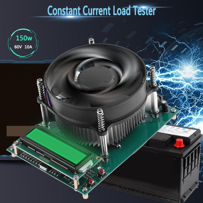 150W 60V 10A Digital Battery Tester Discharge Capacity Tester Electronic Adjustable Constant Current Load Battery Capacity Meter 150w 10a constant current electronic load tester battery discharge capacity test