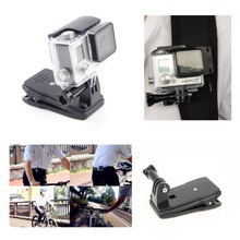 For Gopro Accessories 360 Degree Rotation Backpack Bag Belt Clip Clamp For Gopro Hero 4 3+/3/2/1