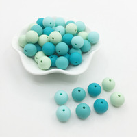 Baby Candy Silicone Beads Baby colors Teething Beads Safe Food Grade Teething 10mm/12mm/15MM Round Silicone Beads 100pcs/lot