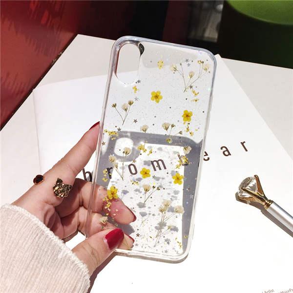 Qianliyao настоящие сушеные цветы прозрачный, мягкий чехол для iphone X 6 6S 7 8 Plus 11 Pro Max чехол для телефона для iphone XR XS Max чехол - Цвет: 3