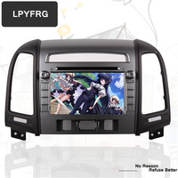 Octa Core Android 9.0 Car DVD for HYUNDAI SANTA FE 2006 2012 with 64G Flash Wifi BT Map RADIO.GPS Support dab dtv 4G Steer Wheel
