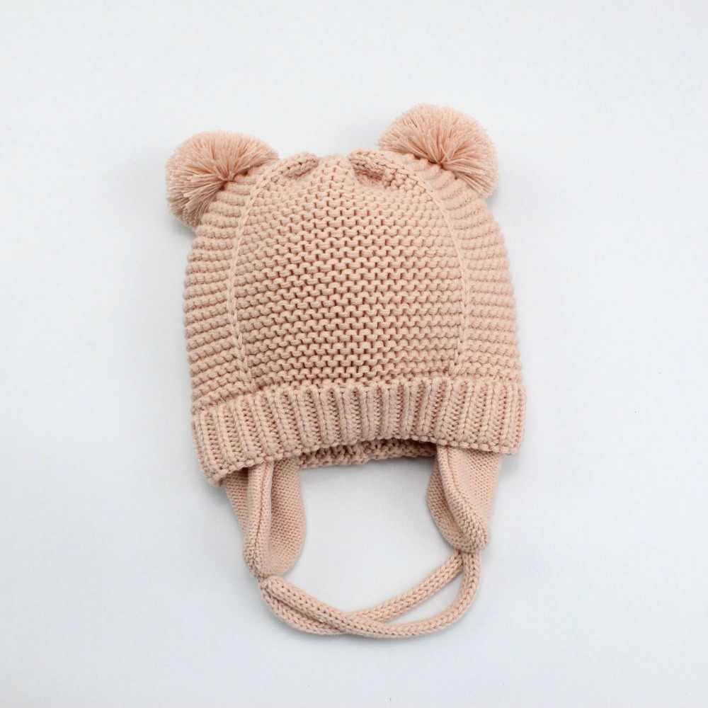 3 ขนาดหมวกเด็ก 1-5 ปีชายหญิงหมวกหมวกเด็กฤดูหนาวหมวก Bonnet Enfant หมวกเด็ก muts KF744
