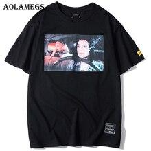 Aolamegs T Shirt Men Female Driver Printed Mens Tee Shirts Short Sleeve Fashion High Street Tees Hip Hop Streetwear