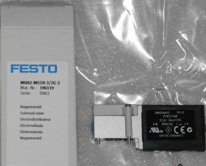 MHA2-MS1H-3/2G-2 196119 solenoid valves body FESTO without Coil free shipping mlh 5 1 4 b 533138 solenoid valves body festo without coil free shipping