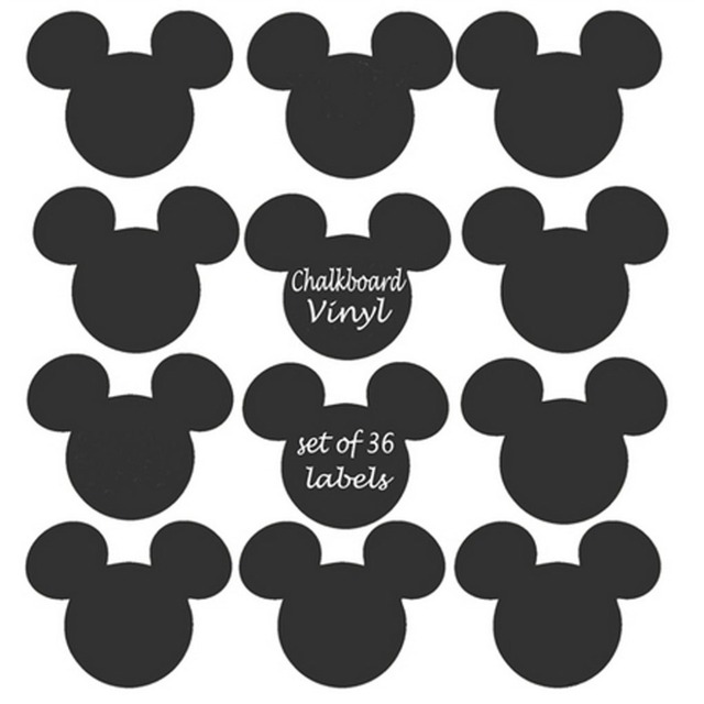Mickey Mouse Vinyl Chalkboard Label ChalkBoard Stickers