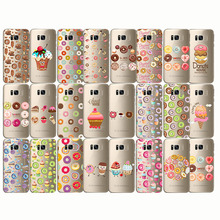 Food Donuts Chocolate Ice Cream Cartoon Funny Case Soft Silicone Transparent for samsung Note10 9 S10e S8 S9 S10 PLUS