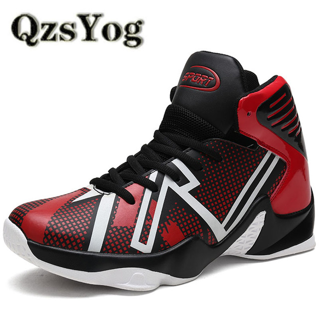c0a146c7cf88 QzsYog Big Size 39-46 Men Basketball Shoes Air Cushion High Top Sneakers  Luminous Outdoor Sport Trainers Glowing Athletic Lebron