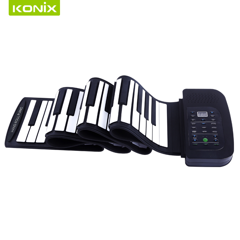 цены Factory whole sell with 88keys electronic hand roll up piano,electronic piano with speaker