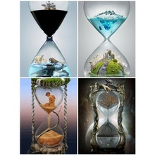 EverShine DIY Diamond Embroidery Scenery Mosaic Full Display Painting Square /round Rhinestones Hourglass