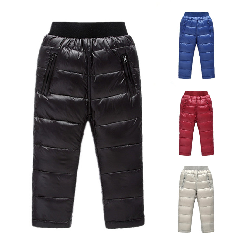 kids down pants for girls winter clothing children warm. Black Bedroom Furniture Sets. Home Design Ideas