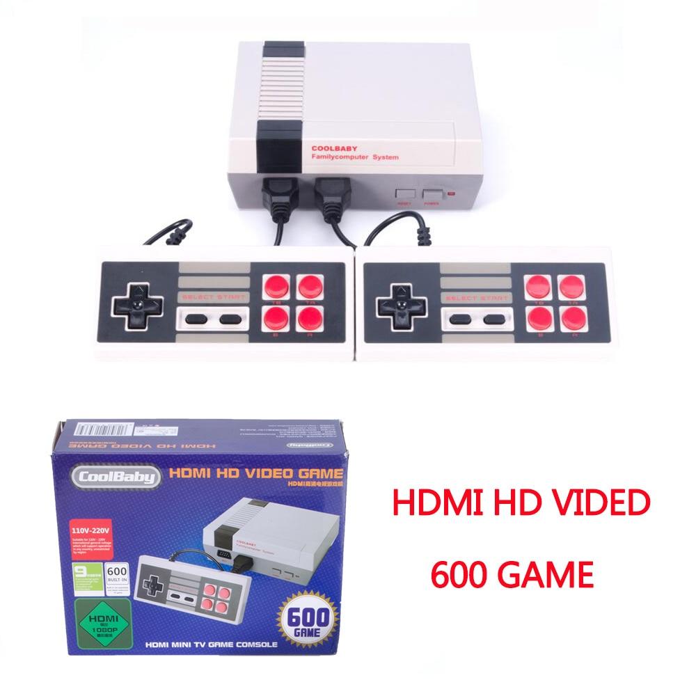 HDMI classique Mini TV Console de jeu prise en charge HDMI 8 bits rétro Console de jeu vidéo intégré 600 jeux lecteur de jeu portable