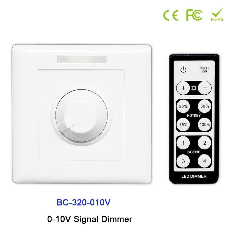 Beleuchtung Zubehör Bc-320-010v 0-10 V Signal Knopf Stil Led Dimmer Controller Mit Ir Fernbedienung Verwenden Für Dc12v-24v Led Streifen Licht Band In Vielen Stilen