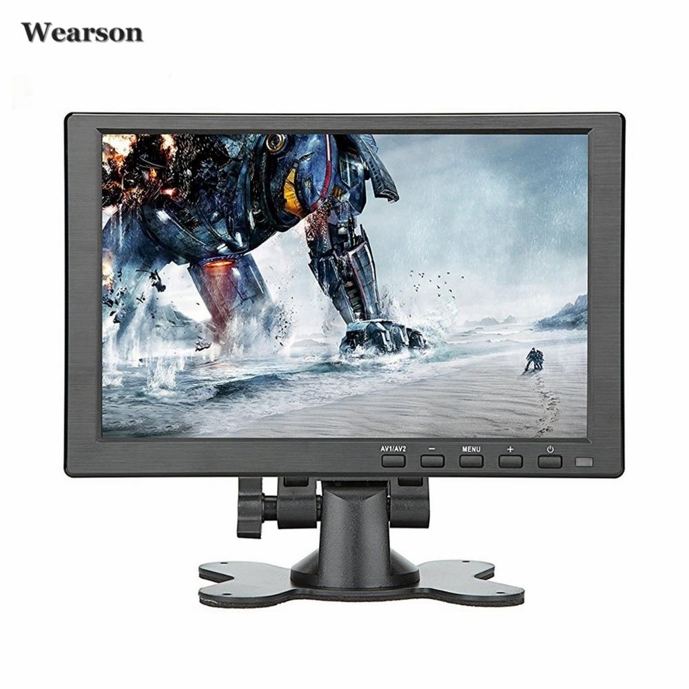 Wearson 10.1 pouces HDMI VGA HD écran LCD écran IPS 1280x800 pour Raspberry pi 3 moniteur entrées Audio vidéo