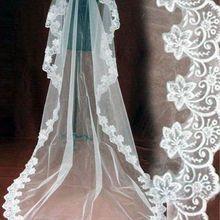 Свадебные 3 м 5 М длинные один Слои фата Слоновая кость/белый Элегантный Свадебные аксессуары въелось de Novia Вуаль де mariée