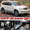 6 X Error Free Car LED Bright Vehicle Interior Map Dome Door Lights Kit Package for lexus GX470 accessories 2003-2009