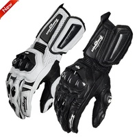 Furygan afs 10 gloves made of carbon fiber leather motorcycle Cycling knight Long section gloves locomotive Anti fall