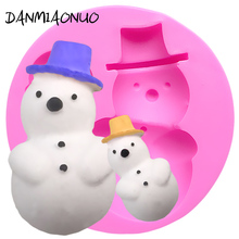 DANMIAONUO Snowman Cupcake Mold Soap Cutter Decoration Cake Biscuit Food Grade Chocolat Baking Accessories Fondant Tools