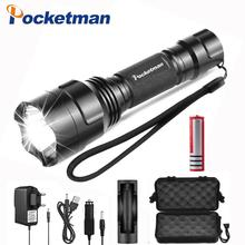 10000 Lums Flashlight Q5/T6/L2 LED Torch Light  18650 Battery Tactical Hunting Camping Bicycle Waterproof lamp
