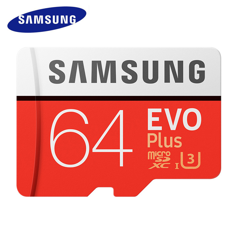 SAMSUNG Micro sd Memory Card 64gb SDXC Grade EVO+ Class 10 Micro SD TF Memory Card Read/Write Speed Up to 100 MB/s Micro SD Card