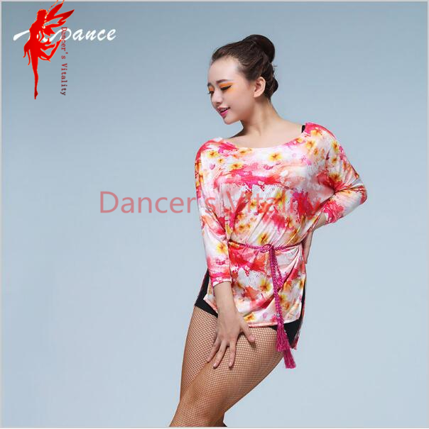 317681c9e Cheap Nuevo Vestido de seda de hielo para baile latino manga de murciélago  ropa superior para