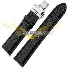 Новый 20 мм личность ткачество зерна натуральной кожи браслет из нержавеющей стали с двойной пряжкой высокое качество часы браслет