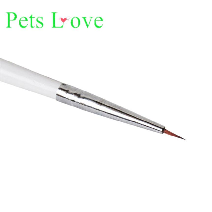 Высокое Качество Гравировка Nail Art Кисть Соболь Nail Art Картина Кисти 3D Ручка Белый NOV22 Внеочередное