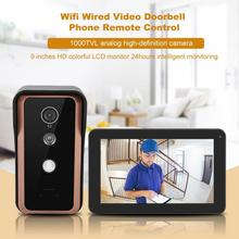 9 inches Wireless Doorbell Wifi Remote Control Video Intercom Doorbell Door Phone Home Security Door Bell jeruan new hd wifi video door phone doorbell and phone telecontrol talkback rfid code remote control unlock free shipping