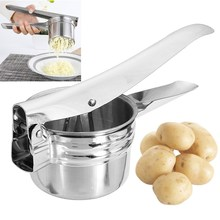 Stainless Steel Potato Ricer Masher Fruit Vegetable Press Juicer Crusher Squeezer Easy Cleaning Household Kitchen Cooking Tools