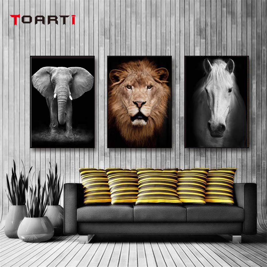 Animals Portrait Photo Realistic Painting Canvas Modern HD Pictures Vintage Posters&Prints Wall Art Living Room Home Decor Mural