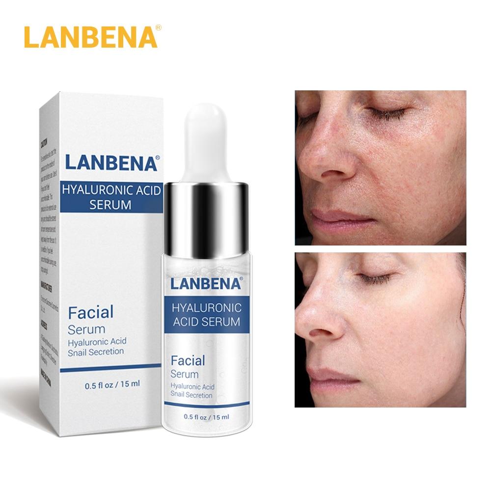 Skin Care Acids For Face: LANBENA Hyaluronic Acid Serum Snail Essence Face Cream