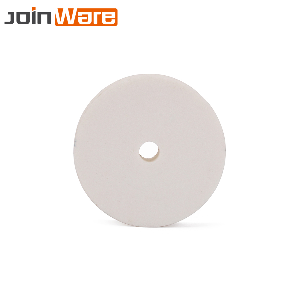 70mm 180# White Ceramic Grinding Wheel Corundum Polishing Pad Abrasive Disc Grinder Rotary Tool Bore 10mm Thickness 18mm