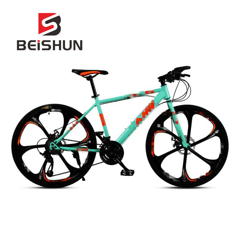 26 Inch Speed Bicycle Double Disc Brake 6 Knife Wheel Bicycle Adult Mountain Bike