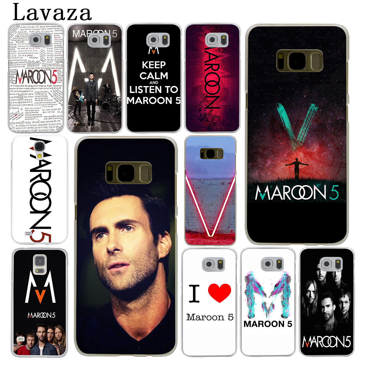 Lavaza maroon 5 Hard Phone Cover Case for Samsung Galaxy S9 S6 S7 Edge S8 Plus S3 S4 S5 & Mini S2 Cases