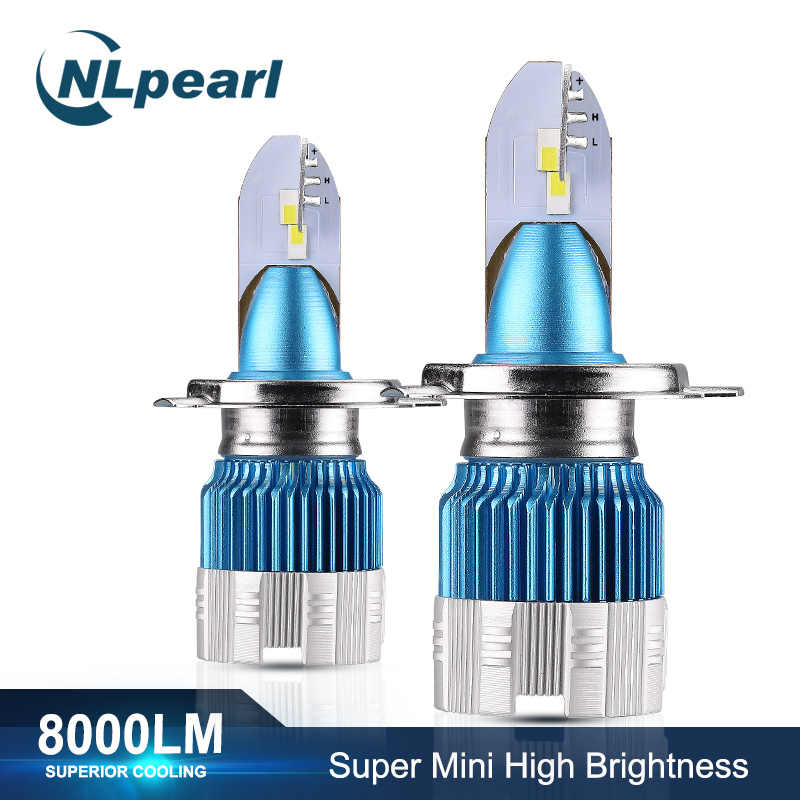 NLpearl 2x Mi2 50W 8000LM 6000K Headlight Bulbs H7 H4 Led Bulb H3 H1 9005/HB3 9006/HB4 H8 H9 H11 Led Fog Headlamp Bulb 12V 24V