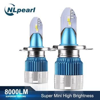 NLpearl 2x Mi2 50W 8000LM 6000K żarówki do przednich reflektorów H7 H4 żarówka Led H3 H1 9005/HB3 9006/HB4 H8 H9 H11 przeciwmgielne Led żarówka reflektora 12V 24V