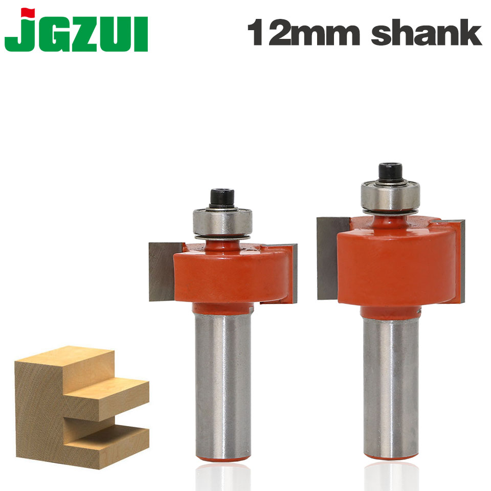 1pcs 12 Inch Rabbeting Bit With Bearings Woodworking Tool T Type Bearings Wood Milling Cutter Router Bits For Wood 12mm