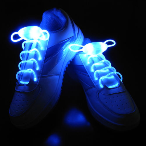 2Pcs LED Shoelaces Flash Light Up Glow Stick Strap Shoe Laces Disco Party Hot 1 pair led sport shoe laces flash light glow stick strap shoelaces blue pink green yellow worldwide sale